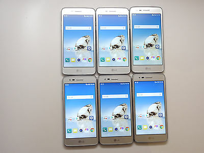 Lot of 6 LG Aristo M210 16GB Silver T-Mobile Smartphones AS-IS GSM