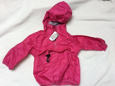 Next girl pink cagoule. 18-24 months.  BNWT. RRP £12