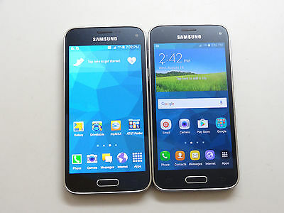 Lot of 2 Samsung Galaxy S5 Mini Unlocked & AT&T Smartphones AS-IS GSM