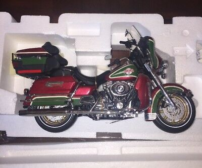 2005 Harley Davidson Christmas Motorcycle Franklin Mint Limited Edition