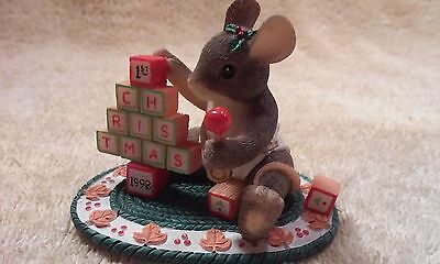 Charming Tails by Dean Griff for Fitz and Floyd,The Building Blocks of Christmas