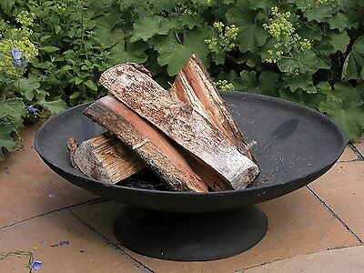 Large Cast Iron Fire Pit Round Black Bowl Basin Outdoor Patio Camping New