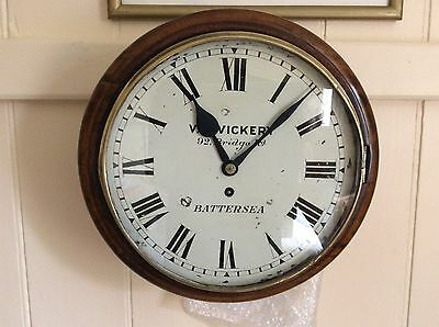 Fusee Wall Clock, Chain Driven, Vickery of Battersea, London
