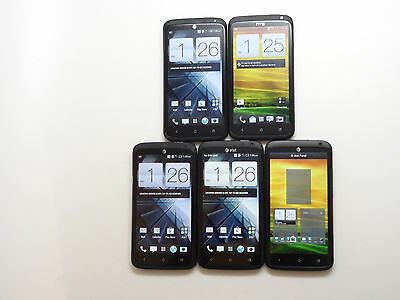 Lot of 5 HTC One X+ 64GB Carbon Black GSM Unlocked Smartphone AS-IS