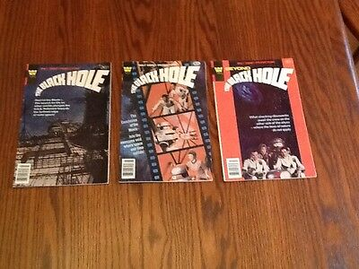 The Black Hole comics #1-3 1980 Whitman, Walt Disney movie, Vg condition