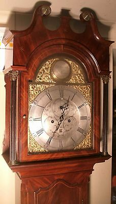 "Antique Mahogany Brass Dial "" St  Ninians  ""  Longcase / Grandfather Clock"