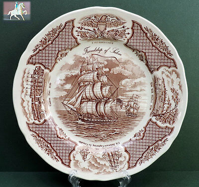 Meakin Fair Winds Plate Friendship of Salem Dinner Ships