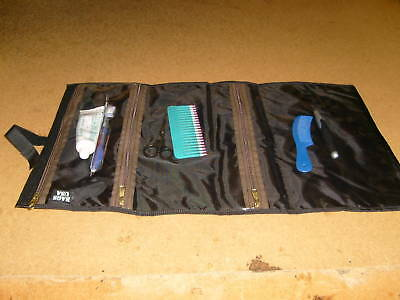 Cosmetic travel makeup bag case, hanging toiletry bag lots of pockets,made U.S.A