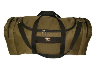 Oversize carry-on with U opening for easy excess, rugby bag Made in USA.