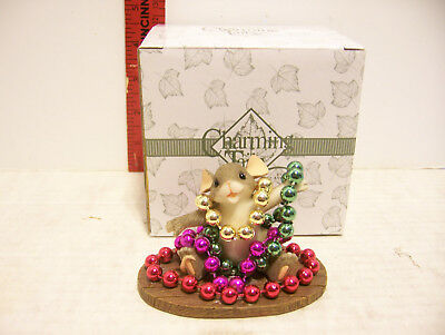 Charming Tails Figurine By Fitz & Floyd Mardi Gras Mouse
