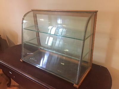 Antique Bowed Glass General Store Display Case