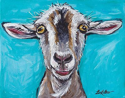Goat Print, goat art, goat decor from original painting 11x14, signed by artist