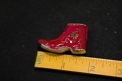 Limoges France Miniature Wine Gold Shoe Boot Bootie