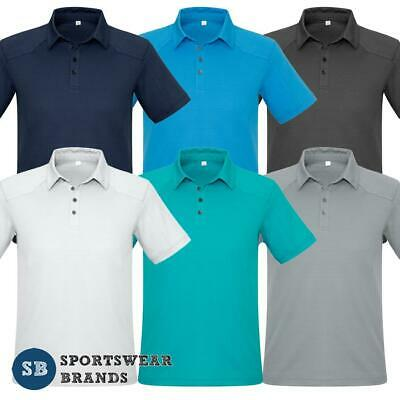 Mens Profile Polo Shirt Top Luxury Fabric Texture Casual Size S-5XL New P706MS