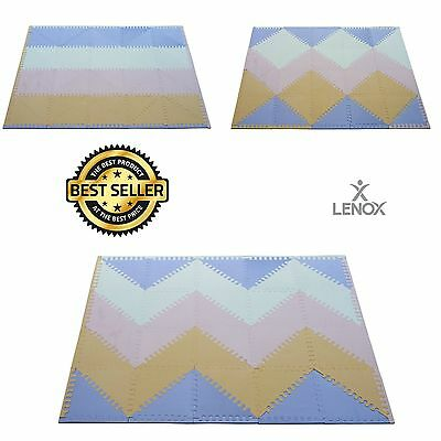 Baby Play Mat Extra Thick EVA 40 Triangle NON-Toxic Tiles Kids Puzzle Foam Gym