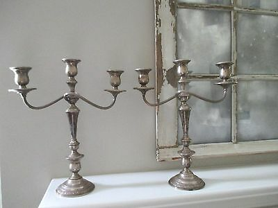 Vintage Set of 2 PRELUDE INTERNATIONAL Sterling Silver Candle Holders Candelabra