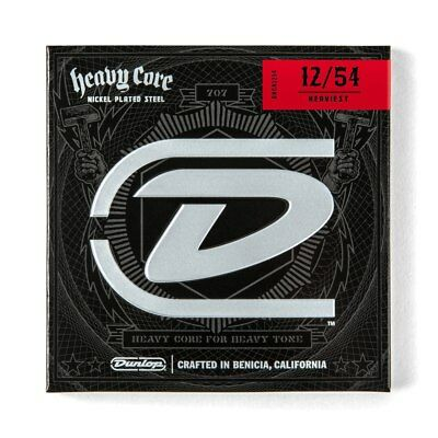 DUNLOP Electric Heavy Core Guitar Strings   12-54