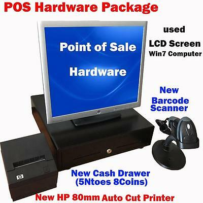 Complete POS Point of Sale System Hardware w Printer Cash Drawer Barcode Scanner