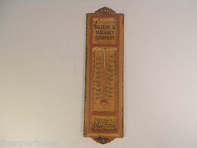 ROJAHN & MALANEY COMPANY Advertising Thermometer ~ Florists Milwaukee Wis Rusty