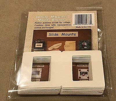 White Mounts Open Package Journaling Scrapbooking Film Slide Mounts