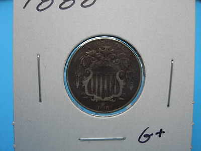 Nice 1868 Shield Nickel G+ Dark color