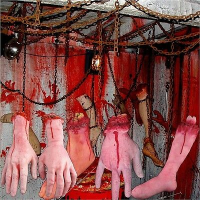 Halloween Horror Props Lifesize Bloody Hand Haunted Night Party Scary Decoration