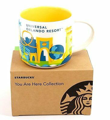 Universal Studios Orlando You Are Here (YAH) Starbucks Mug. 14 Oz. NWT NIB