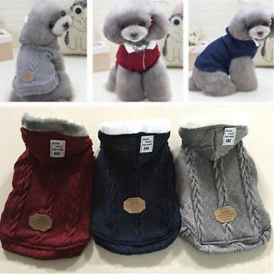 Handmade Pet Sweater Dog Cat Puppy Winter Warm Clothes Coat Wool Hoodie Apparel