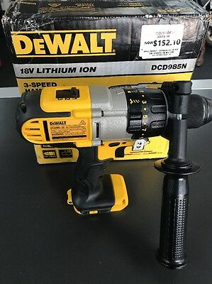 NEW DeWALT DCD985-XE Li-Ion 3 Speed Cordless Hammer Drill SKIN ONLY NEW