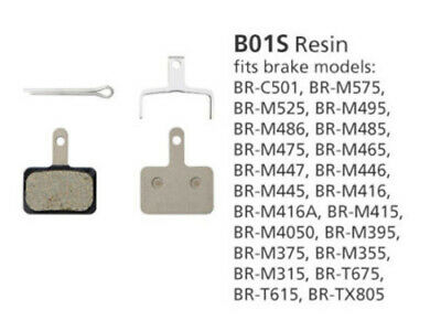 BR-M446 DISC BRAKE PADS B01S RESIN (non-packaged)