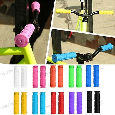 Pair Rubber Handle Bar Grips BMX MTB Mountain Bike Cycle Bicycle Grip 10 Color