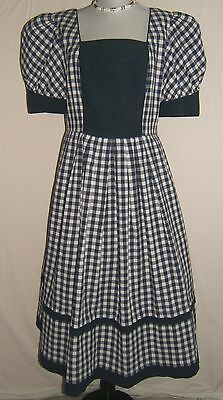 Clever Country Germany Traditional Dirndl Puffy Short Sleeve Blue White Checked