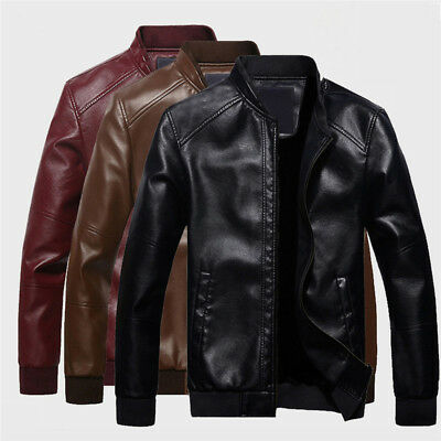 Men's Lambskin Leather Jacket Black Slim Fit Biker Motorcycle Jacket Coat