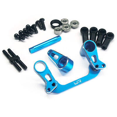 YR Alloy Bearing Supported Steering Rack Blue for Tamiya CC01Jeep landcruiser et