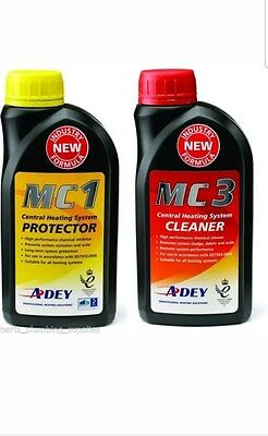 Adey Magnaclean MC1 Inhibitor & MC3 Central Heating System Cleaner TWINPACK