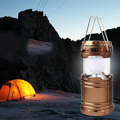 Outdoor Indoor Solar Portable Lantern Rechargeable Night Light Camping Tent Lamp