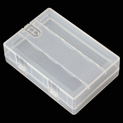 1x Portable Hard Plastic Battery Case Holder Storage Box for 4 x 26650 Batteries