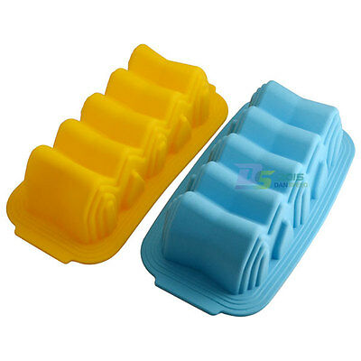 Cute Wave Bottom Loaf Silicone Mold Cake Tin Toast Bread Baking Bakeware Tool
