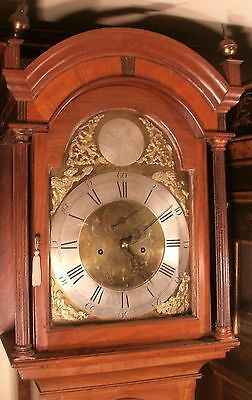 "Antique Mahogany 8 Day "" Newport""  Brass Dial  Longcase / Grandfather Clock"