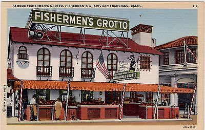 "CPA : USA Californie San Francisco. Commerce "" FISHERMEN'S GROTTO"
