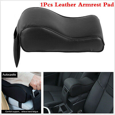 Leather Auto Armrests Covers Car Center Console Arm Rest Seat Box Pads Protector