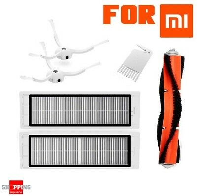 Replacement Spare Part for Xiaomi Robot - Main Brush+2 Side Brushes+2 Filters