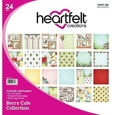 Heartfelt Creations Berry Cafe 12x12 Double Sided Cardstock Paper Pad