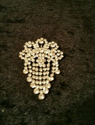 SALE  Vintage Rhinestone Brooch-Pendant Pre-owned with defect