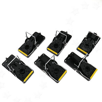 6Pcs Rat Trap Heavy Duty Snap-E Mouse Trap-Easy Bait Pest Catching Catcher