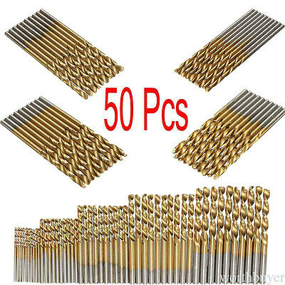 50Pcs/Lot Cobalt High Speed Steel HSS Drill Bit Set for Stainless Steel Metal P6