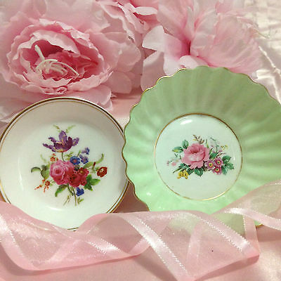 """Adderley"" & ""Worcester"" Royal Bone China Pin Dishes - Made in England!"