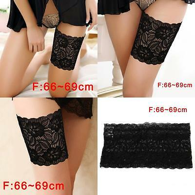 Women Summer Lace Elastic Socks Anti-Chafing Thigh Bands Prevent Sock Size F