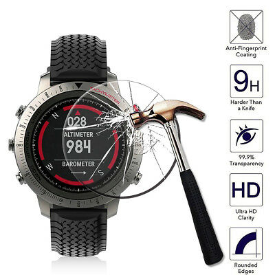 Watch Tempered Glass Screen Protector Guard 9H Hardness For Garmin Fenix Chronos