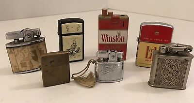 GREAT LOT Of 7 Vintage Lighters